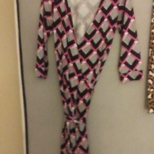 Jersey silk wrap dress